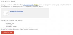 URL personnalisée sur Google+ pour KLS-Lunettes