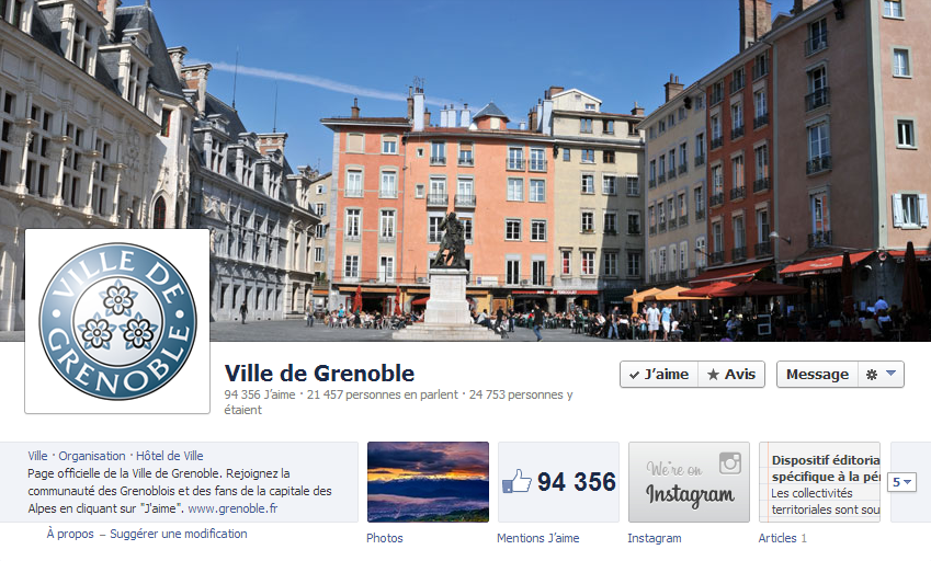 Page facebook Grenoble