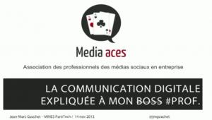 Communication digitale expliquée à mon #prof par Jean-Marc Goachet