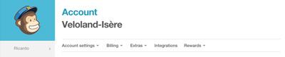 Intégration newsletter mailchimp sur facebook