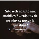 """<span class=""""entry-title-primary"""">Site web adapté aux mobiles ? 4 raisons de ne plus se poser la question !</span> <span class=""""entry-subtitle"""">Pourquoi un site web adapté aux mobiles est indispensable ?</span>"""