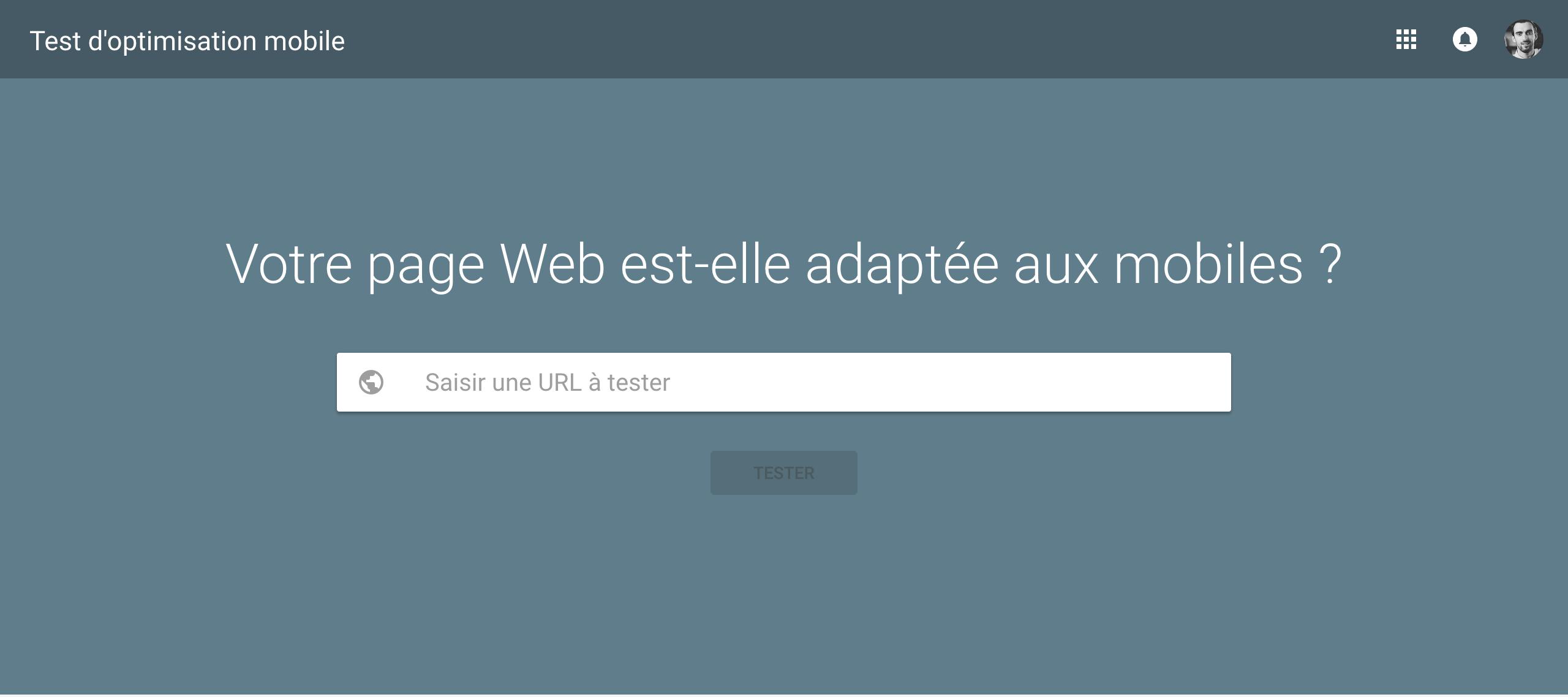Test d'optimisation mobile de Google - site web adapté au mobile