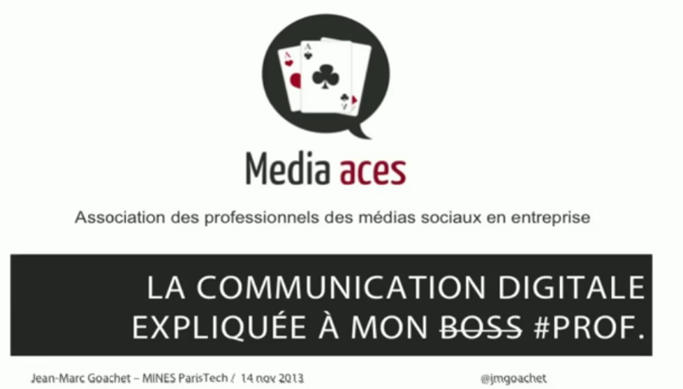 La communication digitale expliquée à mon #prof