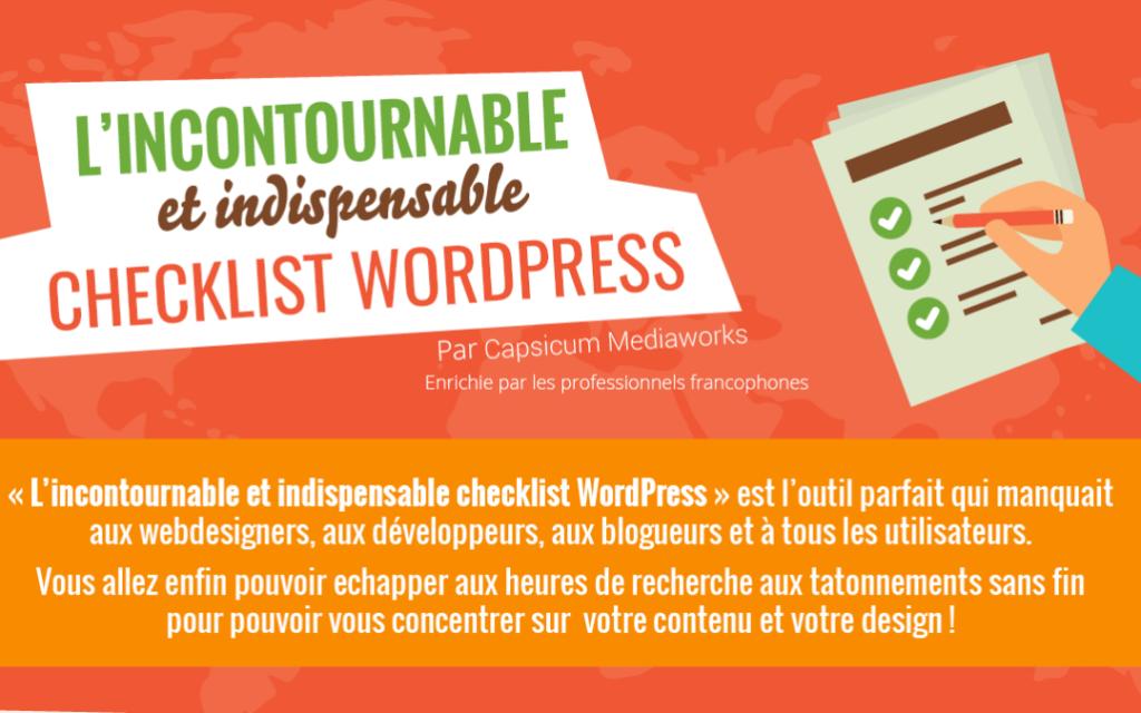 L'incontournable et indispensable checklist WordPress