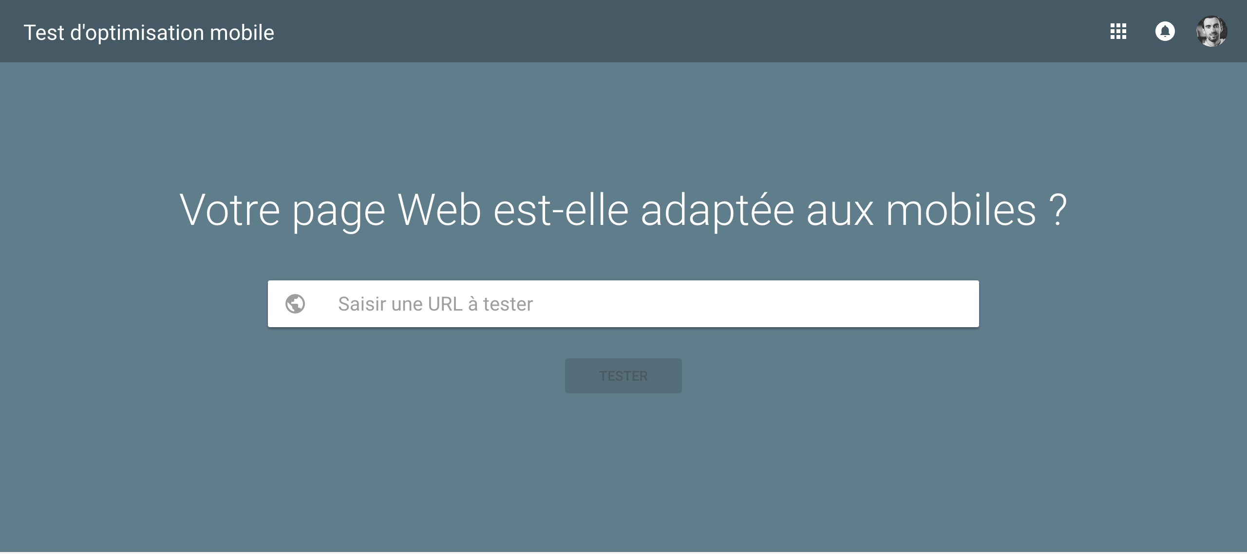 Test d'optimisation mobile de Google - site web adapté au mobile
