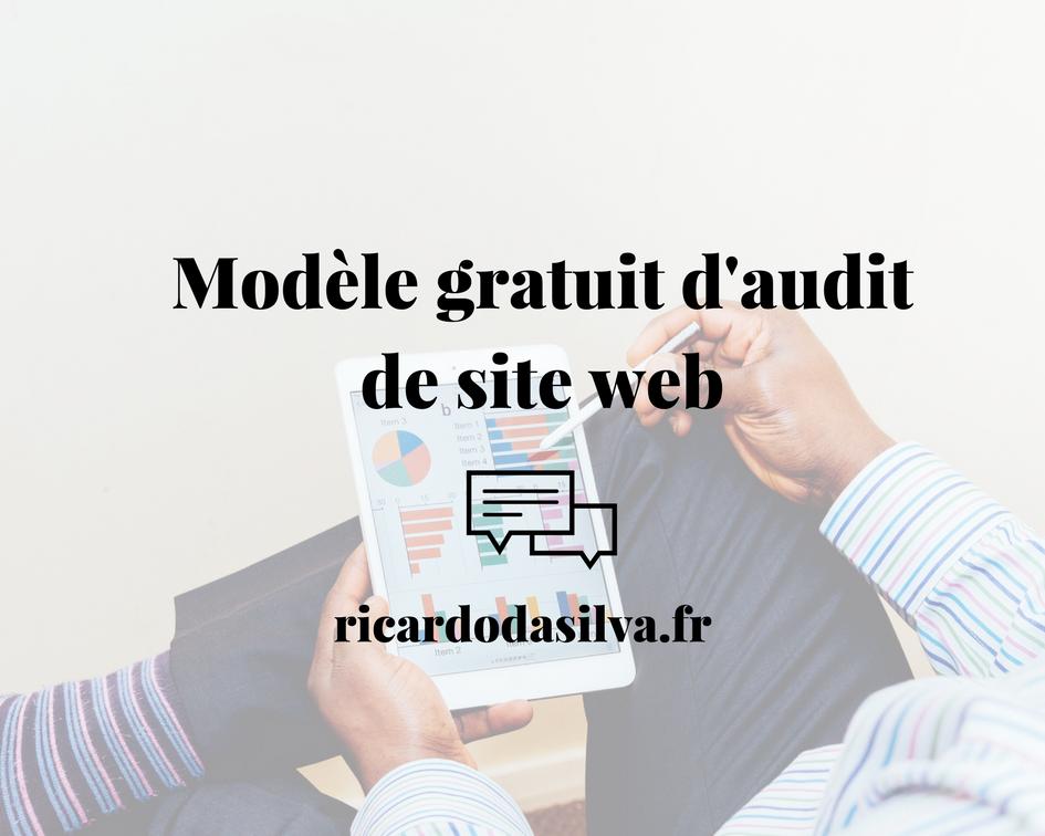 Audit site web, modèle gratuit